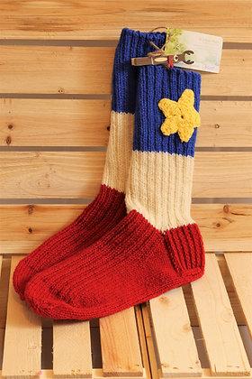 Bas tricoté 100% laine -  La Collection Mellow