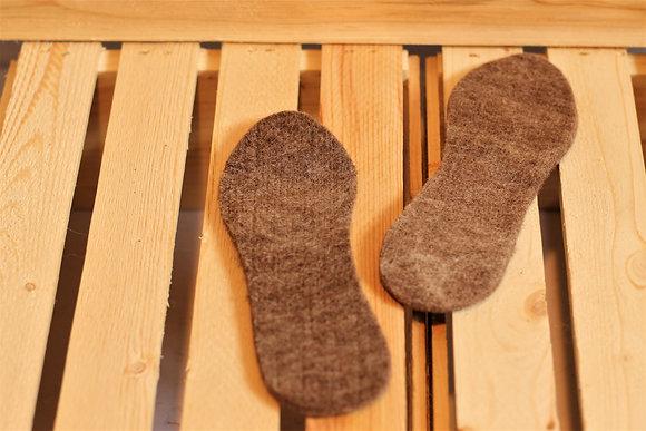 Semelles pour enfant, en fibre d'alpaga