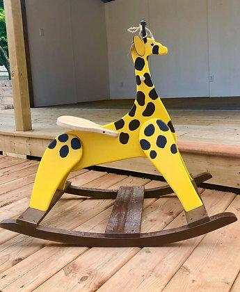 Bascule en forme de girafe