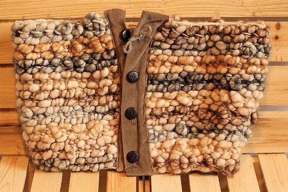 Foulard châle en fibre d'alpaga - couleur au choix
