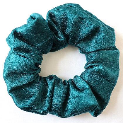 Scrunchie turquoise métallique