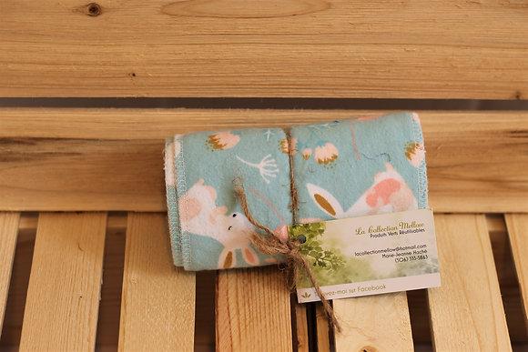 Trio de mouchoirs lavables en coton -  La Collection Mellow