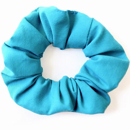 Scrunchie bleu cyan