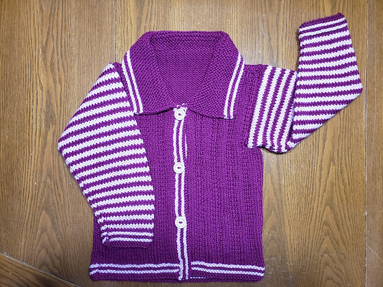 Chandail tricoté 100% acrylique - 4 / 5 ans, Les tricots d'Eva