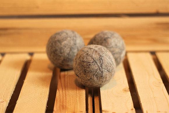 Trio de balles de sécheuse en fibre d'alpaga