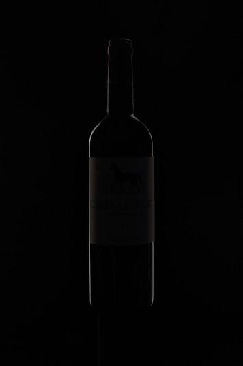 CHEVAL NOIR bouteille