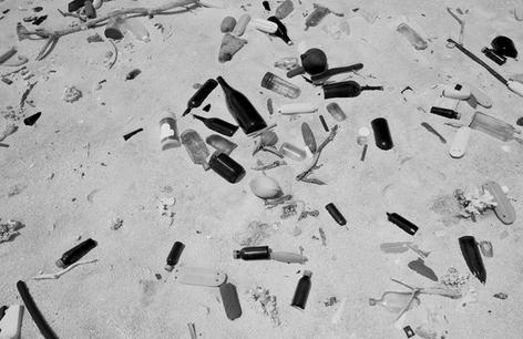 Debris on Beach, Kure Atoll #2 (NWB-23)