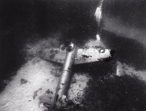 Diver over Japanese Betty Bomber (T-14)