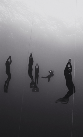 Surfacing Freedivers (B-83)
