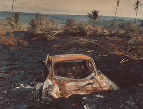 Car in Lava Flow, Hawaii, 1985 (HR-01)