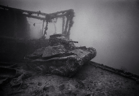 Tank on Deck of San Francisco Maru (T-27)