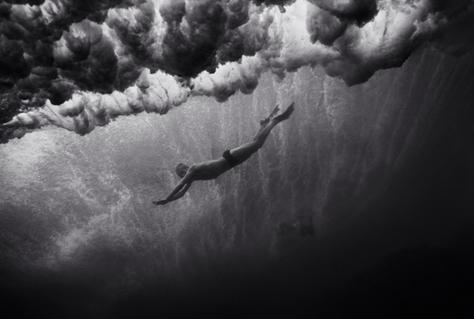 Mark Cunningham under Breaking Wave (B-110)