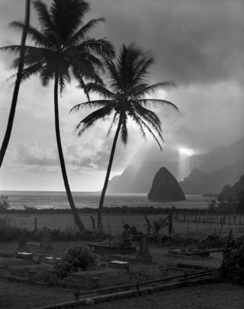 Graveyard at St. Philomena, Kalaupapa, Hawaii, 1986 (KAL-1771)