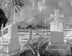 Cemetary with Smoke, Kalaupapa, Hawaii, 1985 (KAL-1073)