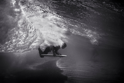 Under Wave with Body Board (B-291)