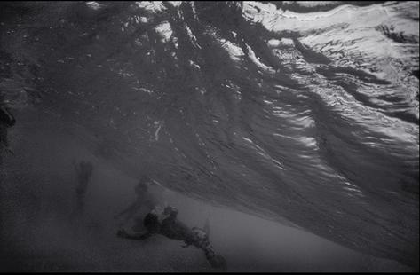 Body Surfers under Breaking Wave (WN-98)