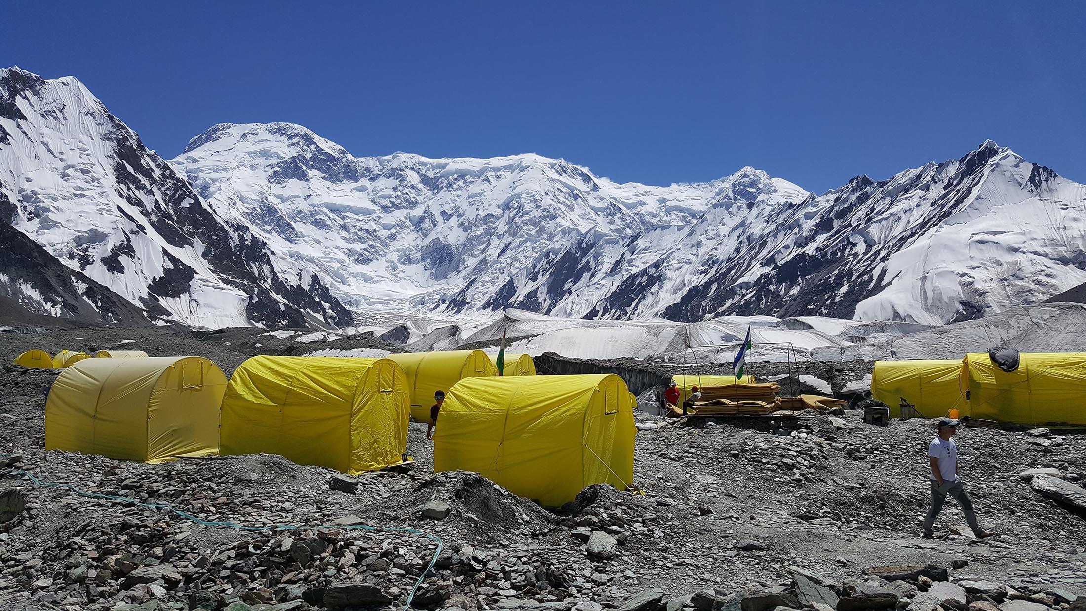 Pobeda Base Camp