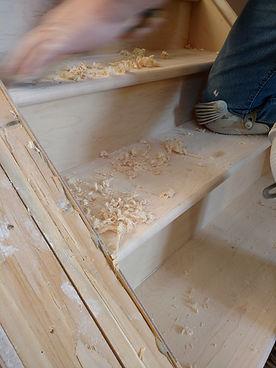 wood stairs in calgary