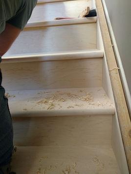 before hardwood stairs