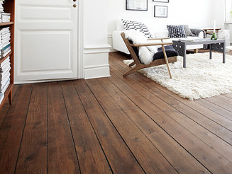 Getting a classic look of hardwood floors.
