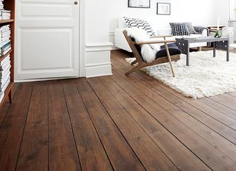 Getting a classic look of hardwood floors.