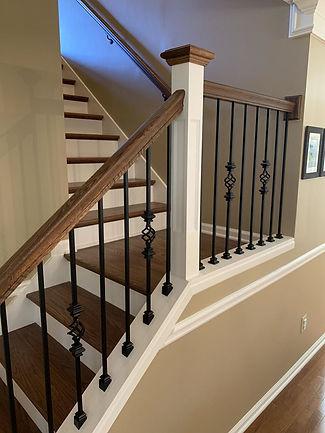 wood staircase oak
