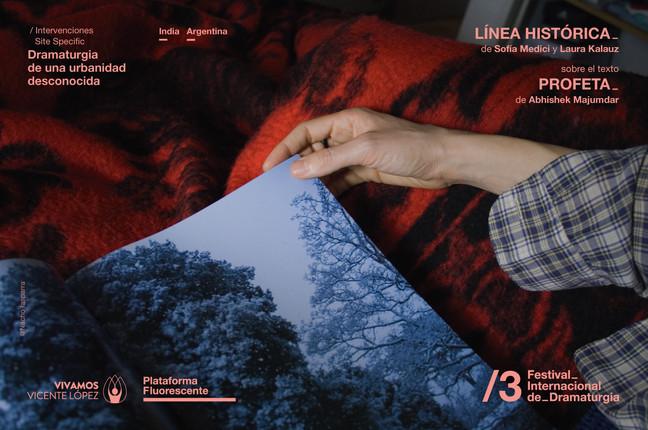 ESTRENAMOS LÍNEA HISTÓRICA en el Festival Internacional de Dramaturgia.      Los sábado 2 y 9 de jun