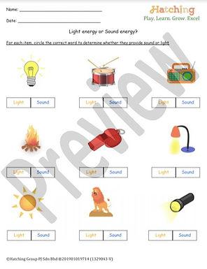Light vs Sound Energy