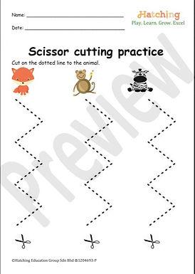Scissor Cutting Practice (Zig Zag Line)