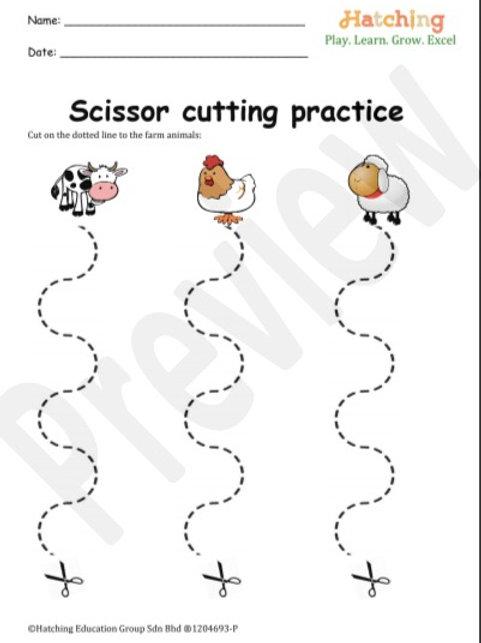 Scissor Cutting Practice (Curvy Line)
