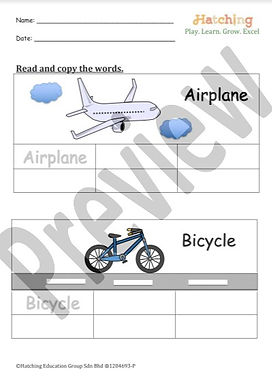 Word Copying - 4