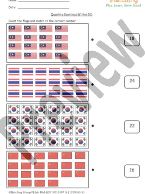 Quantity Counting - Flags
