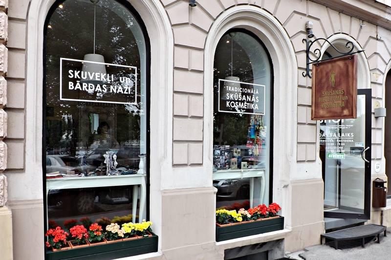 """DanaBassotta bow ties in Gentlemen's Parfumery & Accessories shop """"Spots"""" in Riga, Latvia"""