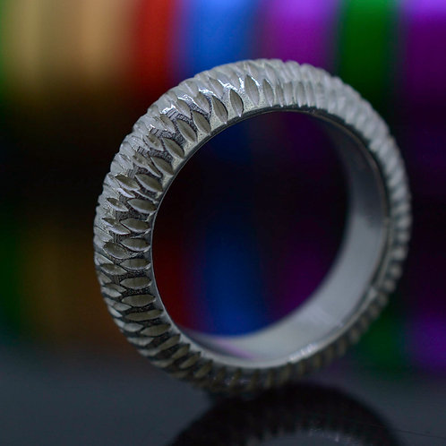 Lion scratch Ring, unisex
