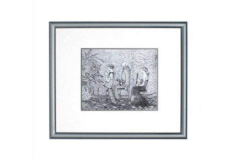 Picture. Engraving on sterling silver sheet