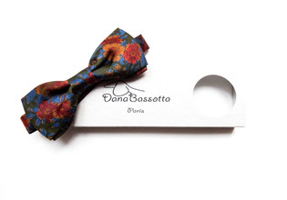 Gypsy wedding pre tied silk bow tie