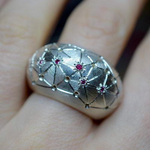 Ruby Maze volume Ring