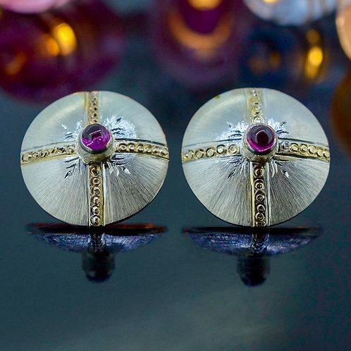 Cardinal Amethyst Earrings