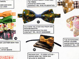 Danabassotta bow tie in GQ UK magazine