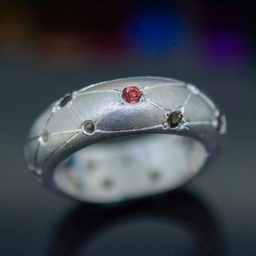 Sapphire & Smoky Quartz Ring