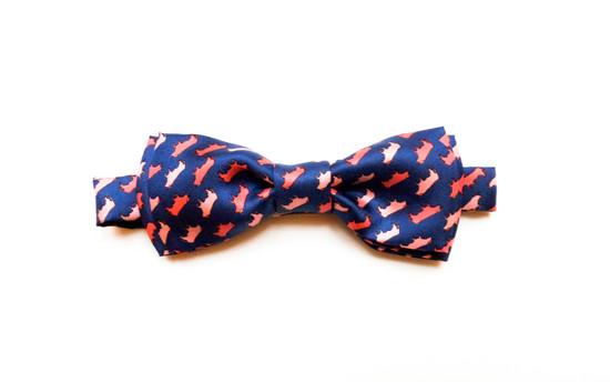 Latvian pink silk bow tie