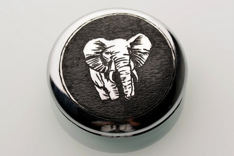 Engraved case with elephant