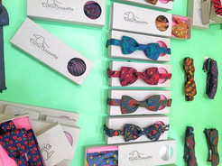 DanaBassotta bow ties in designer shop in Bordeaux
