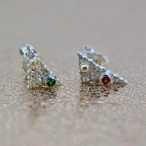 Triangle gemstone studs