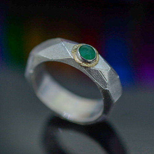 Honeycomb Emerald Ring