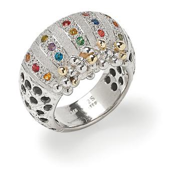 Multi-gemstone Ring