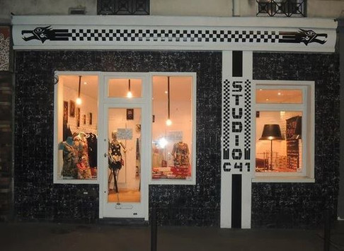 DanaBassotta bow ties in Studio 41 pop up store in Paris, France