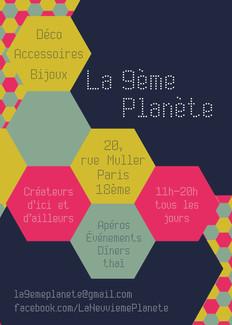 DanaBassotta bow ties in La 9ème planète pop up store in Paris, France