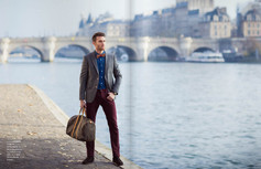"Dandy shooting  for ""JUTE"" magazine  in Paris with the participation of DanaBassotta bow ties!"