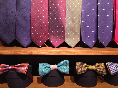 DanaBassotta bow ties in ''Dotten.'' store in Barcelona, Spain
